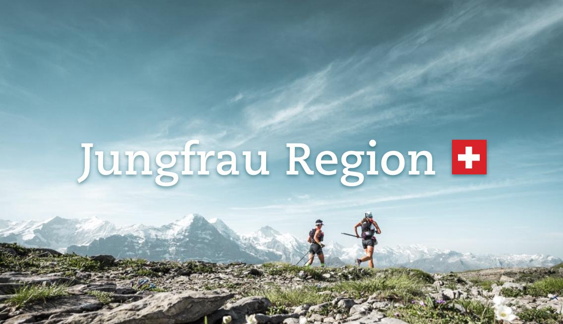 Website der Jungfrau Region mit Raum für Content