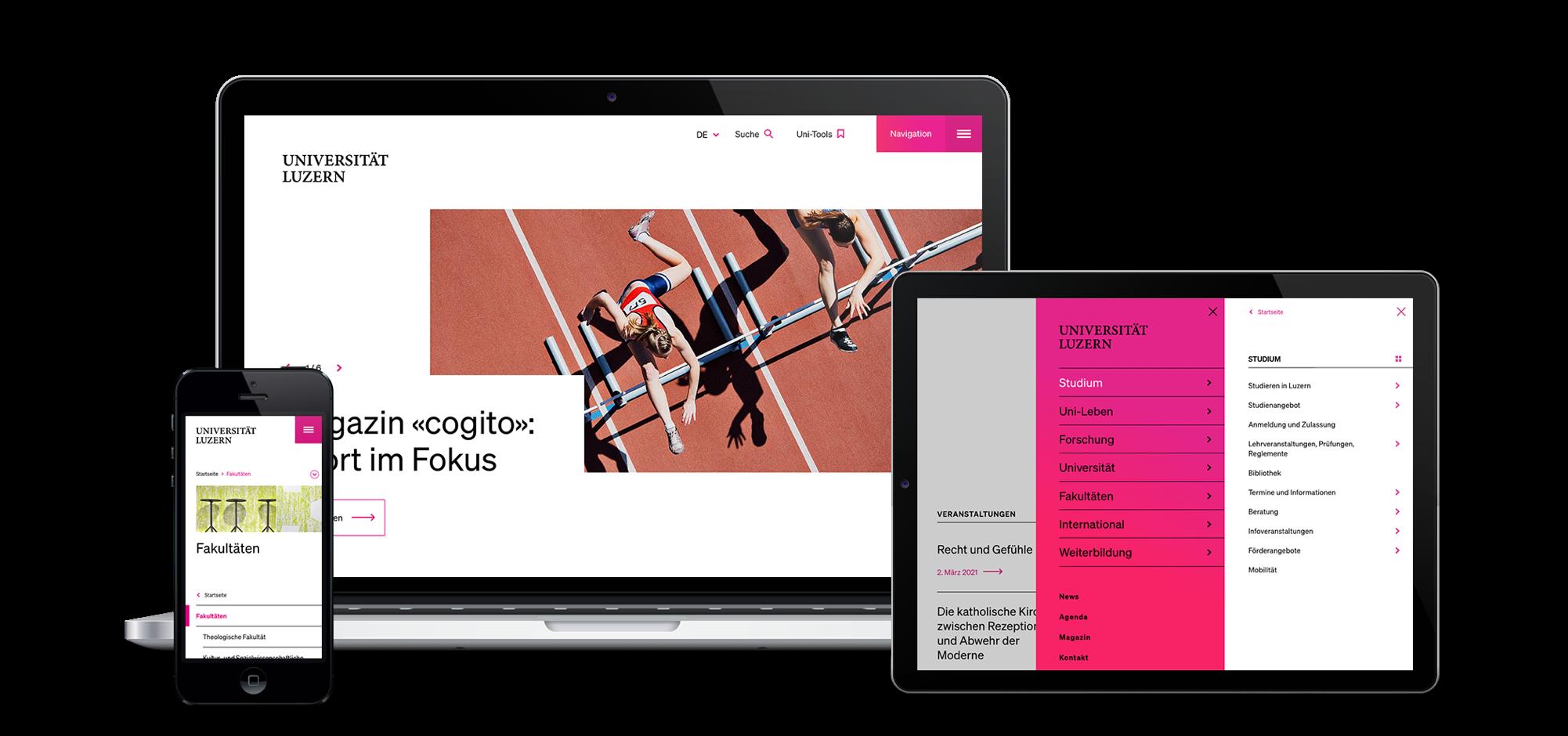 Web-Relaunch für die Uni Luzern