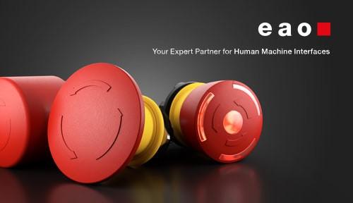 EAO logo mit E-stops